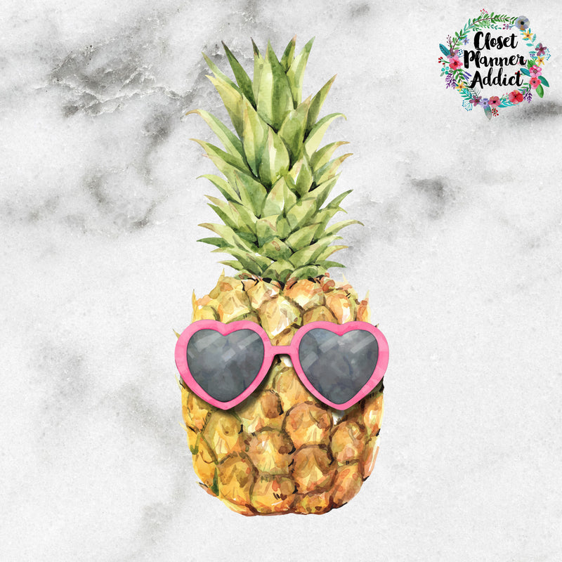Tropical Pineapple Die Cut Sticker (DC-007)
