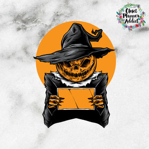 Halloween Pumpkin Die Cut Stickers (DC-017)