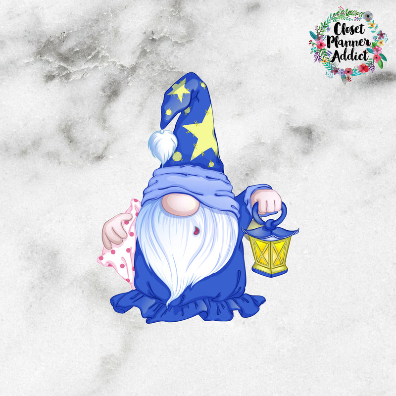 Sleepy Gnome Die Cut Stickers (DC-018)