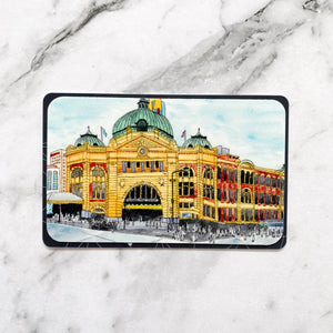 Travel Card Vinyl Stickers Flinders Street Station Vinyl Stickers (TC-001)