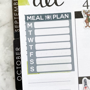 Meal Plan Planner Stickers (FP-027)