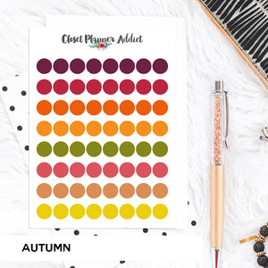 Transparent Tiny Round Label Planner Stickers | Clear Stickers | Clear Labels | Autumn (FP-029)