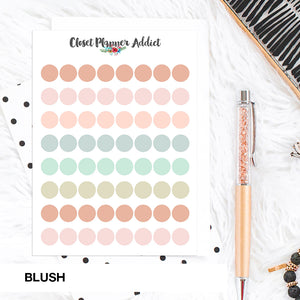 Transparent Tiny Round Label Planner Stickers | Clear Stickers | Clear Labels | Blush (FP-029)