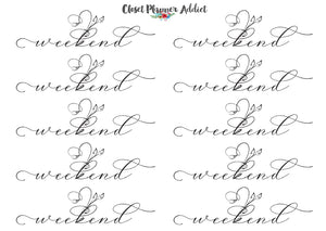 Weekend Script Planner Stickers (FP-028)