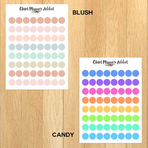 Transparent Tiny Round Label Planner Stickers | Clear Stickers | Clear Labels (FP-029)