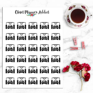 Car Wash Icons Planner Stickers (I-003)