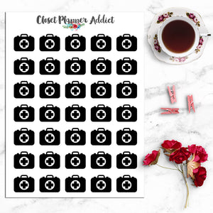 Medicine Bag Icons Planner Stickers (I-013)