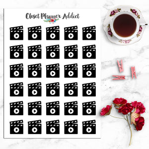 Movie Icons Planner Stickers (I-015)