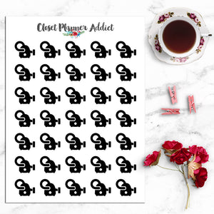 Vacuum Cleaner Icon Planner Stickers (I-025)