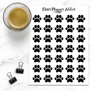 Paw Prints Icon Planner Stickers (I-028)