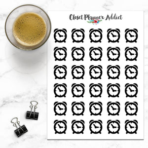 Alarm Clock Icon Planner Stickers (I-030)