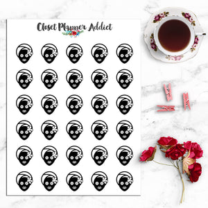 Beauty Facial Icons Planner Stickers (I-055)