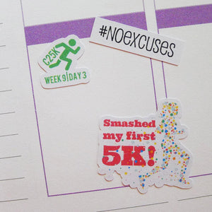 Couch 2 5K Planner Stickers C25K Running Stickers