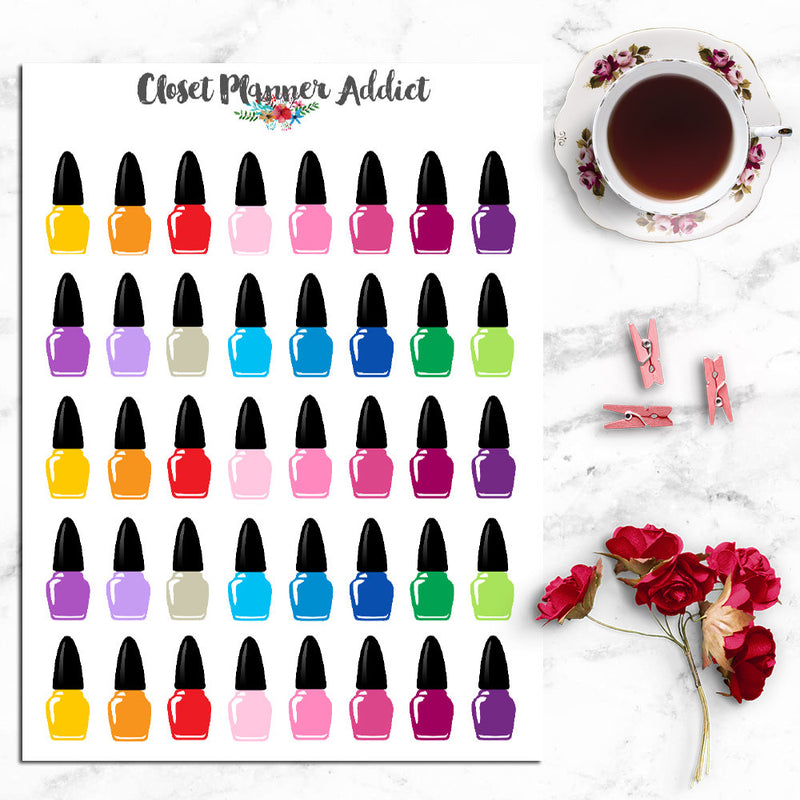 Nail Polish Icon Planner Stickers (I-046)