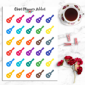 Guitar Icon Planner Stickers (I-052)