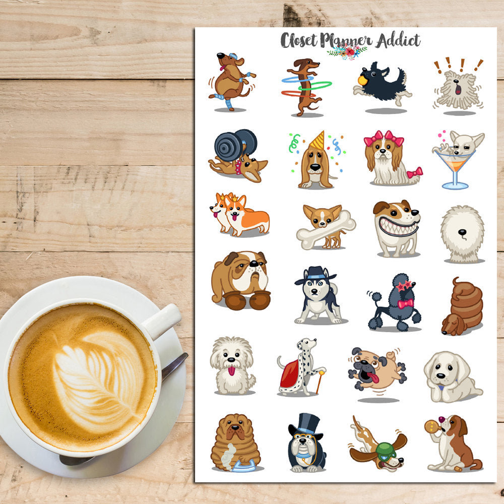 Cute Dogs Planner Stickers (S-174)
