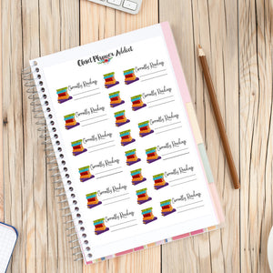 Books Currently Reading Planner Stickers (S-153)