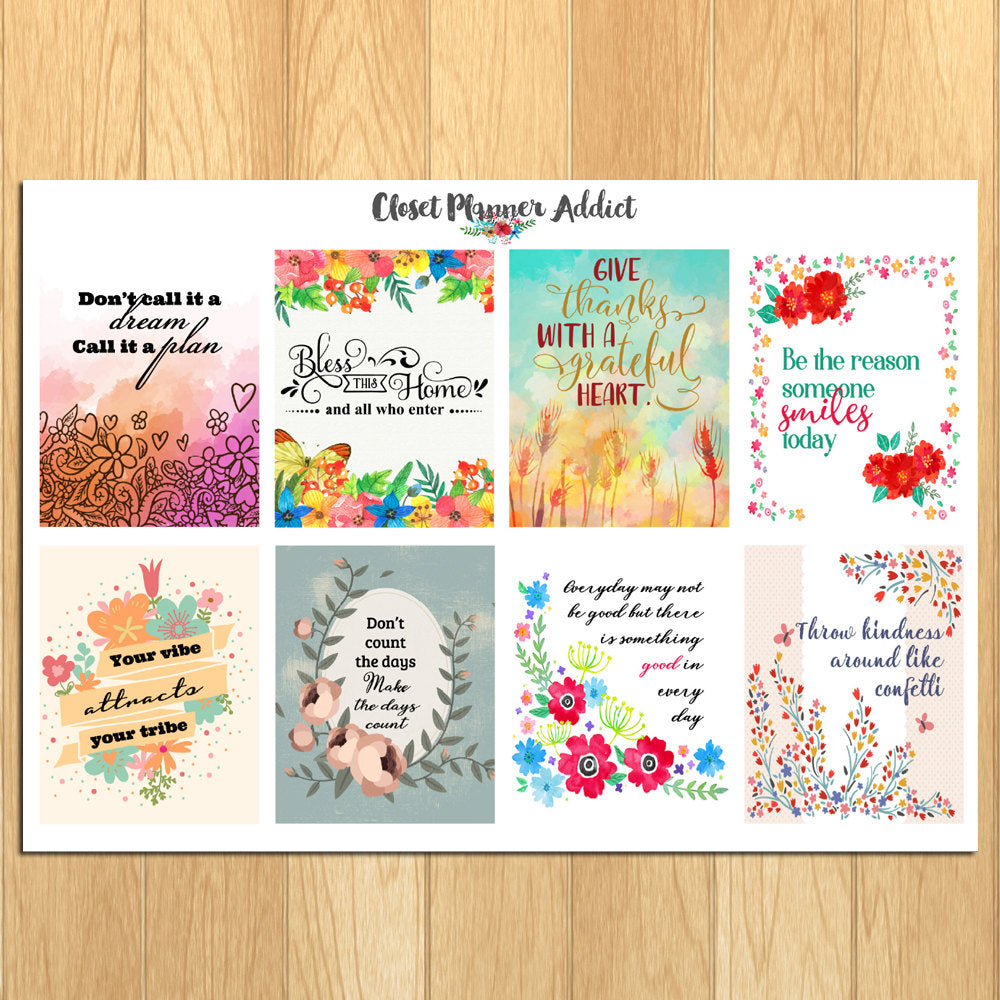 Motivational & Inspirational Quotes Planner Stickers (MS-016)