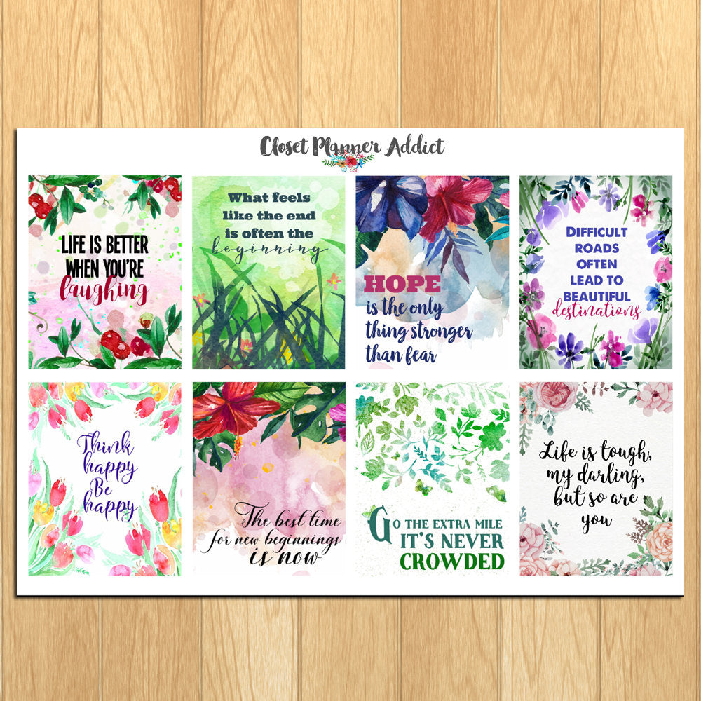 Motivational & Inspirational Quotes Planner Stickers (MS-017)