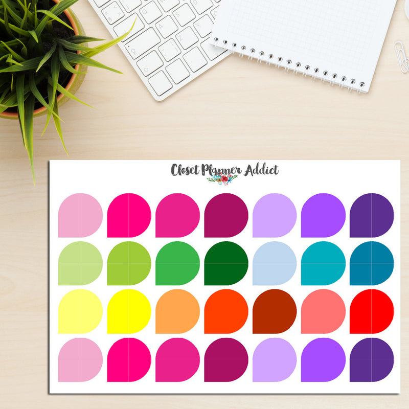 Teardrop Labels Planner Stickers (S-197)