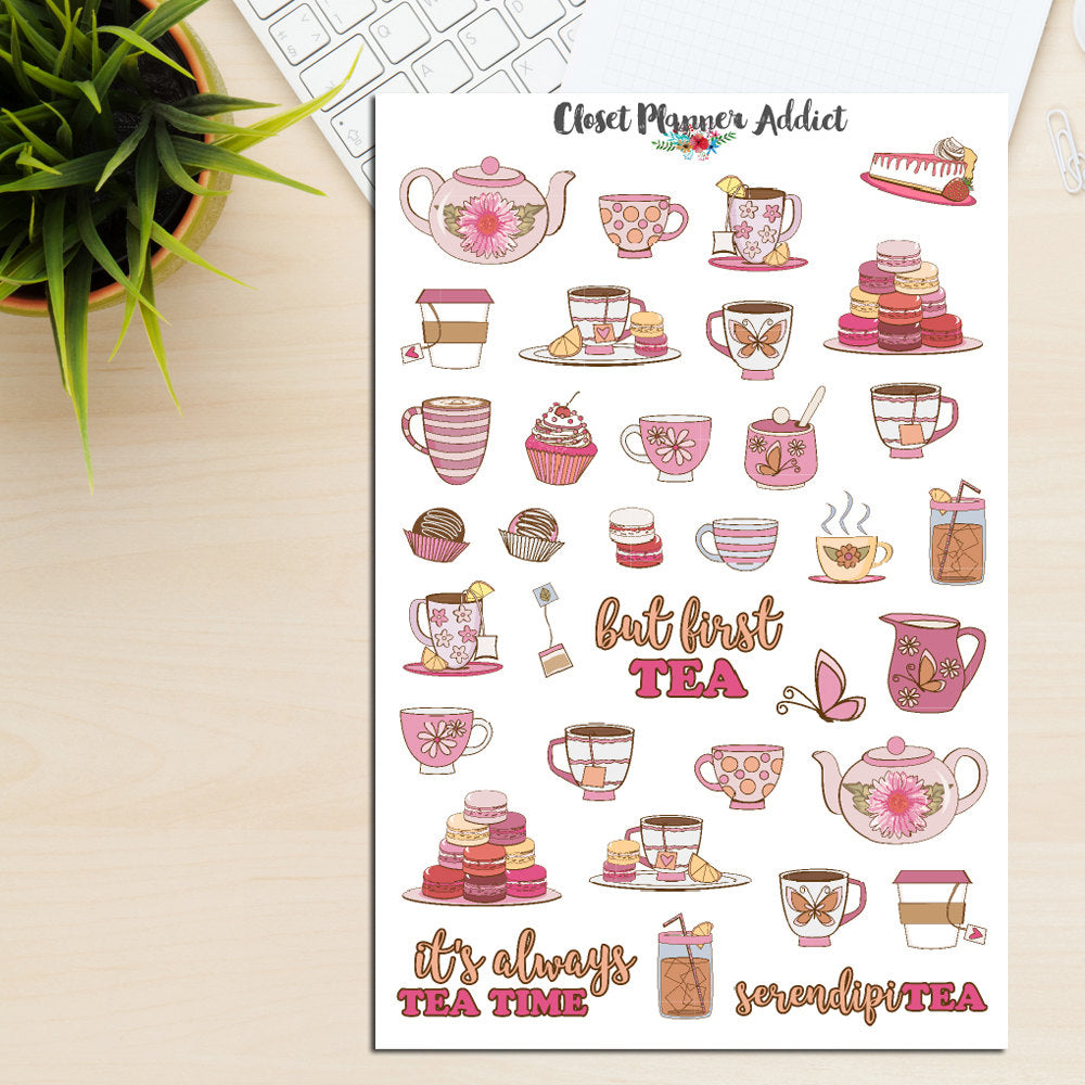 Tea Time Planner Stickers (S-207)