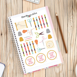 Cross Stitch and Embroidery Planner Stickers (S-234)