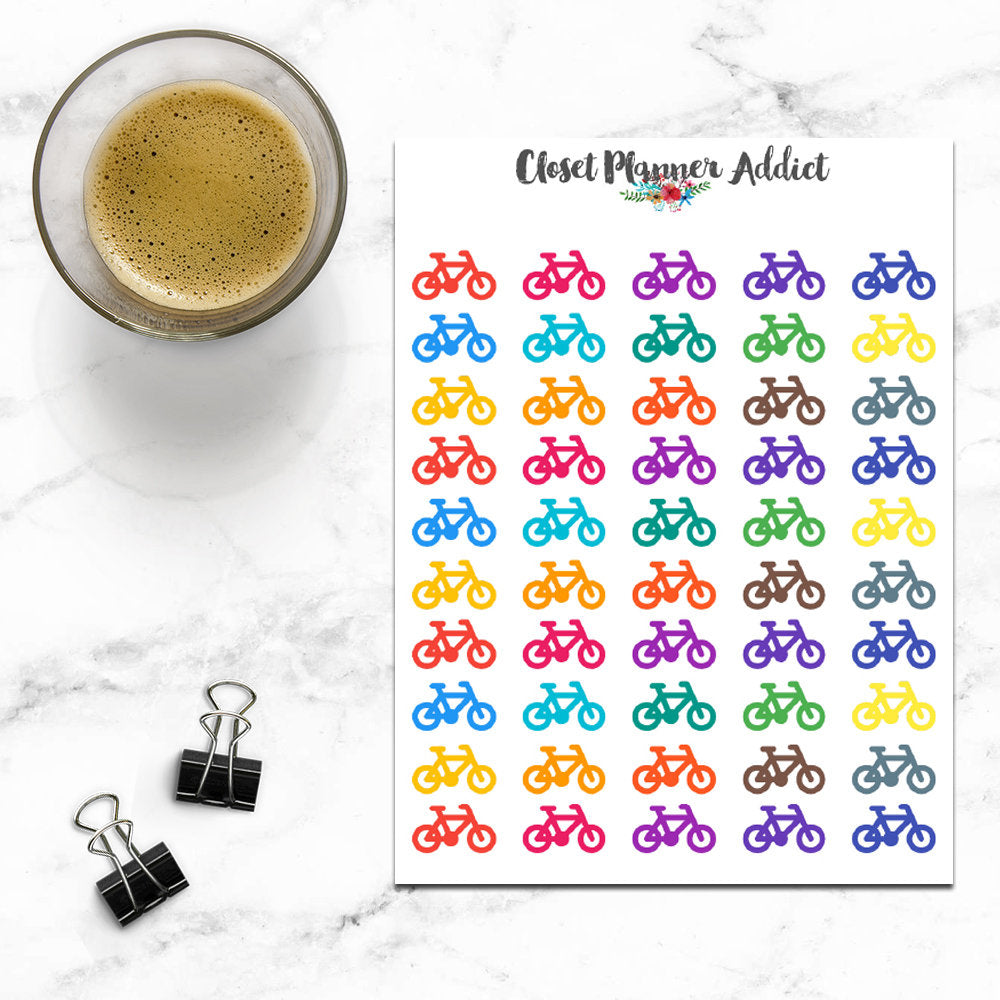 Bicycle Planner Stickers (I-061)