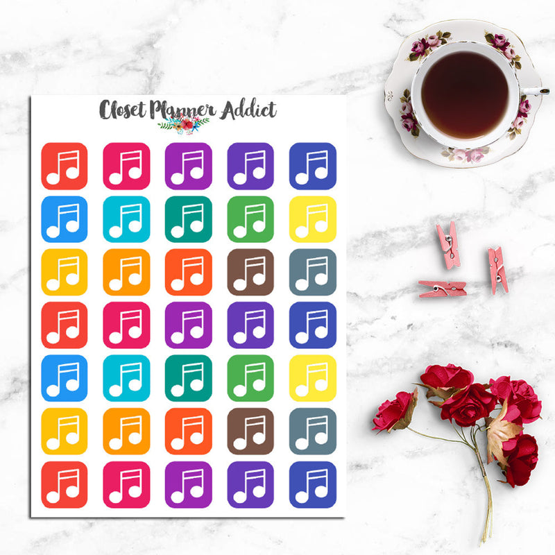 Music Planner Stickers (I-072)