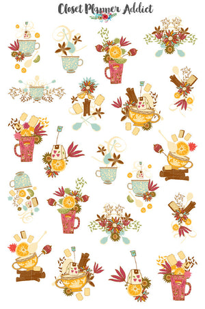 It's Teatime Planner Stickers (S-242)