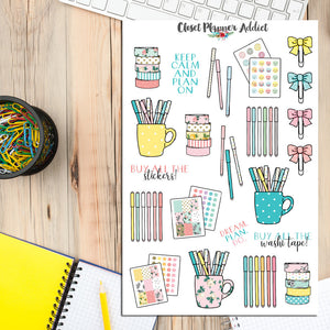 Planner and Stationery Addict Stationery Planner Stickers (S-214)