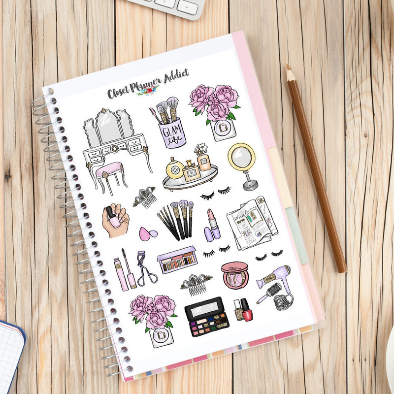 Beauty Babe and Makeup Planner Stickers