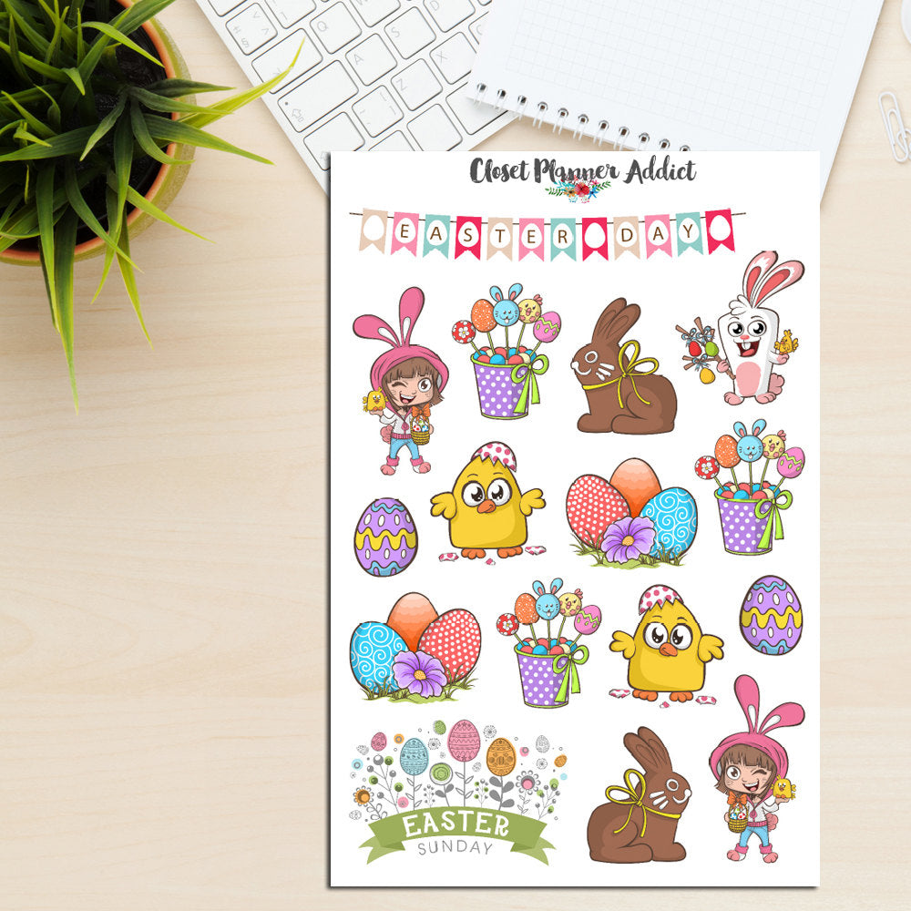 Happy Easter Planner Stickers (S-219)