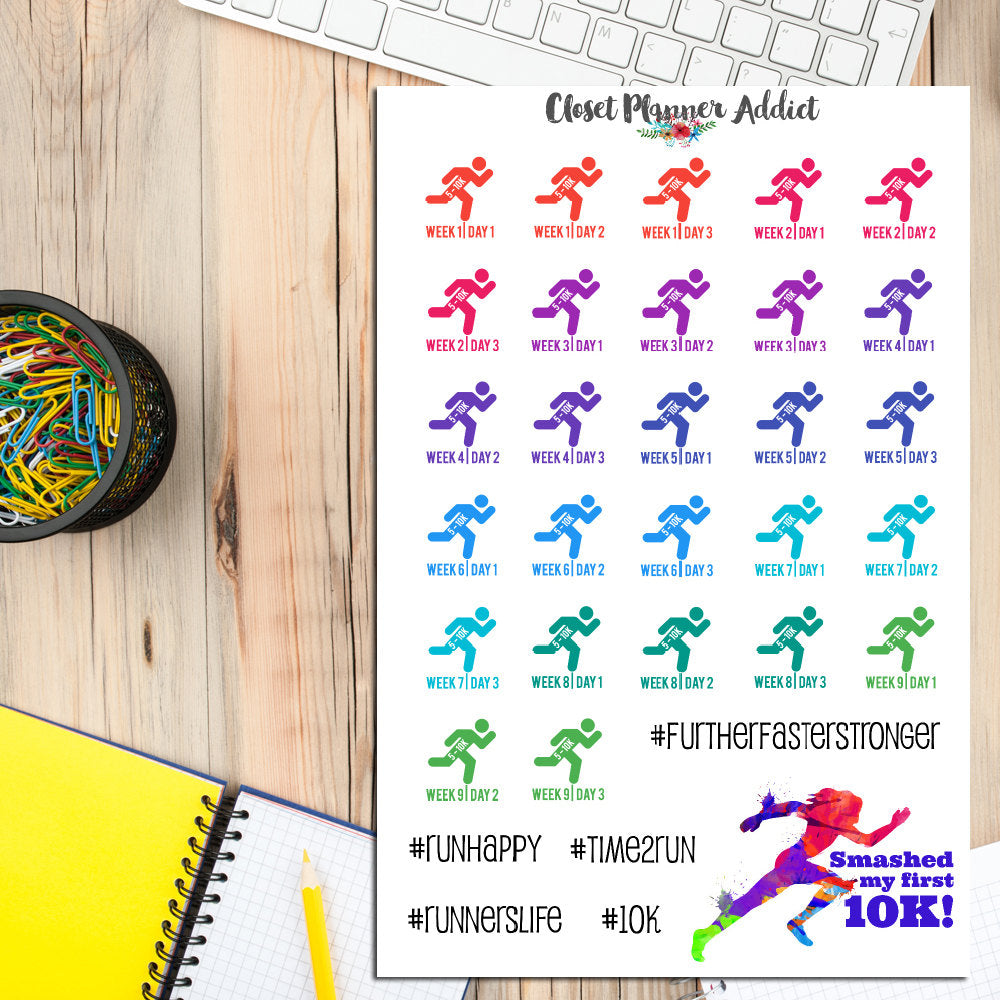 5 to 10K Running Planner Stickers (S-226)