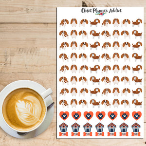 King Charles Cavalier Dogs Planner Stickers (S-228)