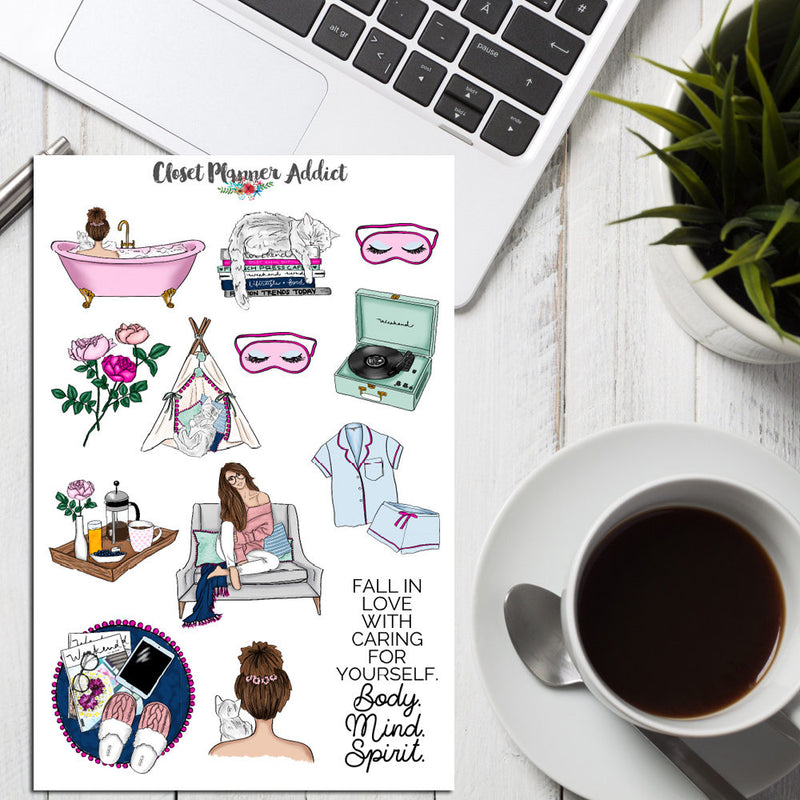 Self Care and Me Time Planner Stickers (S-236)