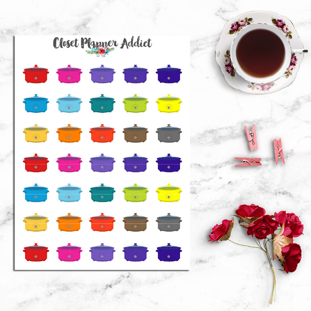 Slow Cooker Planner Stickers (I-058)