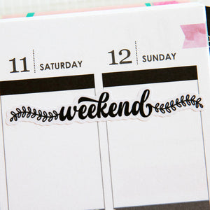 Monochromatic Weekend Planner Stickers (FP-011)