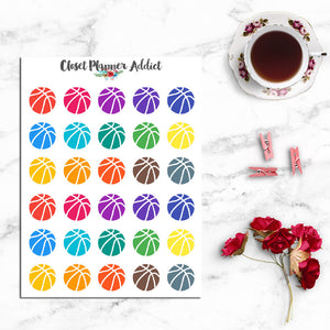 Basketball Planner Stickers (I-064)