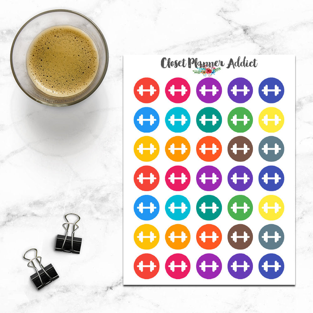 Dumbbell Planner Stickers (I-067)