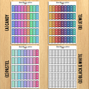 Mini Checklist and Page Flags Planner Stickers (FP-009)