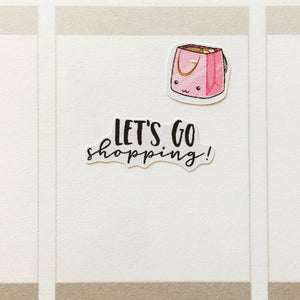 Kawaii Shopping Bags Planner Stickers (S-244)