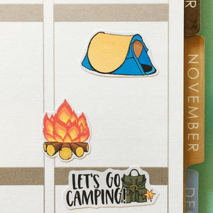 Summer Camping and Hiking Planner Stickers