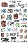 Wanderlust Travel Planner Stickers (MGB-DEC16)