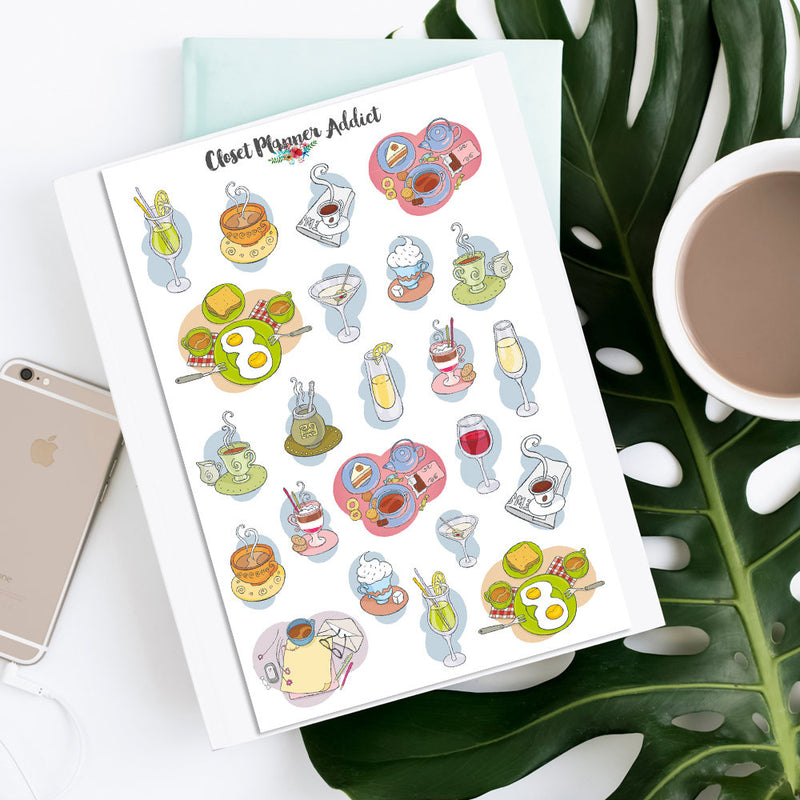 Breakfast Brunch Planner Stickers