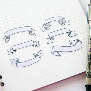 Bullet Journal Headers and Banners Planner Stickers