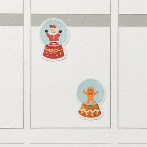 Christmas Snow Globes Planner Stickers