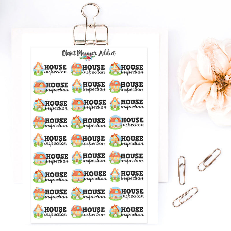 House Inspection Planner Stickers