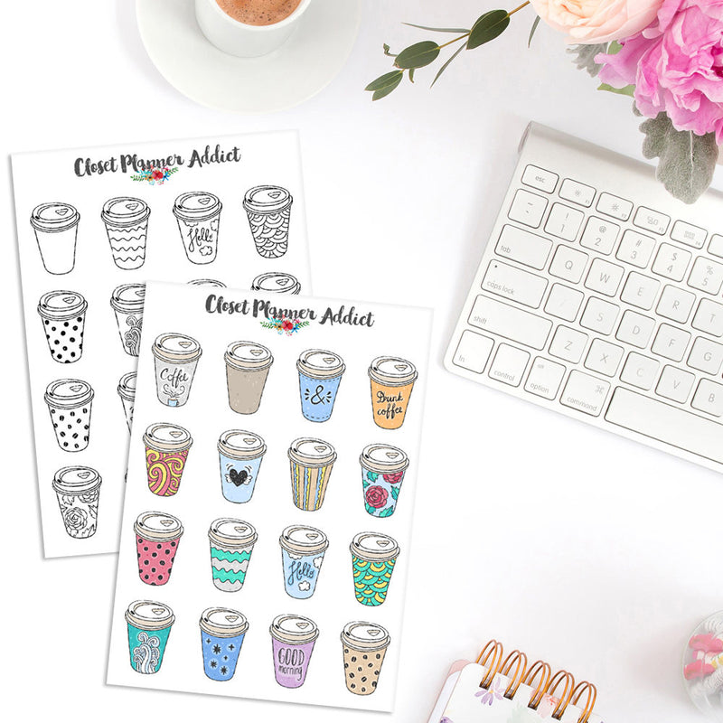 Takeaway Coffee Planner Stickers