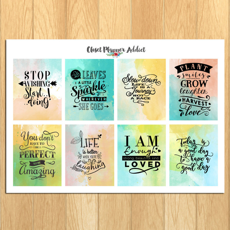 Motivational & Inspirational Quotes Planner Stickers (MS-019)