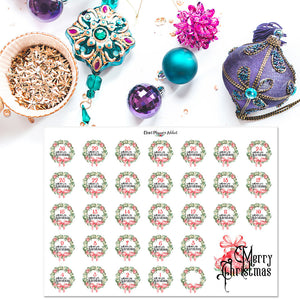 Watercolour Christmas Countdown Planner Stickers